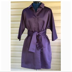 Vera Wang   Purple Satin Trench Coat